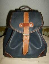 Vintage-ESPRIT®-Lederimitat-Rucksack-Dunkelblau-Bag-Umhängetasche-Unitasche