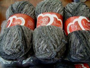 Huge lot of  chenille velvet soft knitting chunky  yarn browns random  10 x 100g
