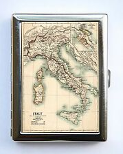 Italy Map Cigarette Case Wallet Business Card Holder id case