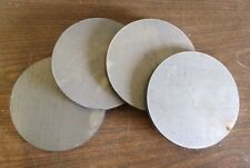 """3/8 (.375) thick X 4 7/8"""" diameter round steel plates Circles Target (4 pieces)"""