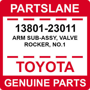 13801-23011 Toyota OEM Genuine ARM SUB-ASSY, VALVE ROCKER, NO.1
