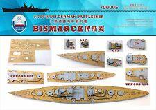 Shipyard 1/700 700005 Wood Deck German Bismarck for Trumpeter