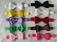 Big Velvet Bow Lace Band Baby Girl Headband Newborn Toddler Soft Elastic + Lot