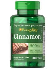 Puritan's Pride Cinnamon 500mg Support Sugar Metabolism 100 Capsules