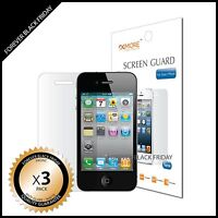 iPhone 4 4S Screen Protector Anti-Glare Matte 3x Front Cover Guard Shield