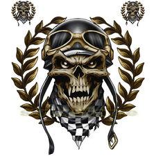 DECAL GRAPHIC MOTORCYCLE WINDSCREENS Air Brush Racing skull quad biker helmet