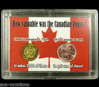 "2012 Canada Last Penny & ""The World's Most Worthless Coin"" in a Novelty Display"