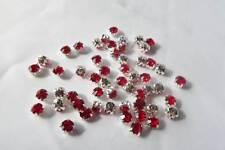 50 x 5mm Crystal STITCH-ON/SEW ON CRYSTAL RHINESTONE MONTEES: CM02 RED