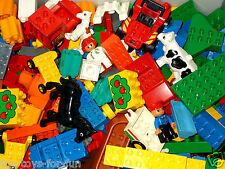 LEGO DUPLO~SUPER SET~1/2 KG BAUSTEINE~BAUPLATTE~FIGUREN~AUTOS~TIERE-500g