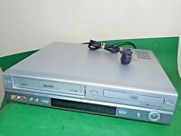 BUSH Dual Deck DVD Player VCR VHS VIDEO CASSETTE Recorder Combo DVHS2 Silver