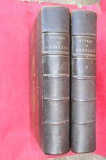 OEUVRES DE RABELAIS ILLUSTRATIONS GUSTAVE DORE 2 FORTS VOLUMES éd. GARNIER  XIXè