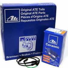 ATE 2x Bremsscheibe POWER DISC + Ceramic Bremsbeläge + Warnkontakt VORNE für BMW