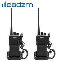2x LEADZM C2 UHF 400-470MHz Walkie Talkie Two Way Radio Handhled Long Range GMRS