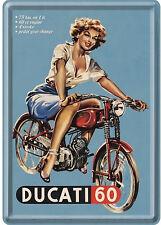 Nostalgic Art Ducati 60 Pin Up Blechpostkarte 14 x 10 cm
