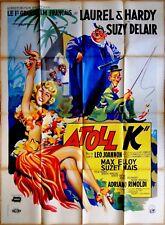 "ATOLL ""K"" (1951) * LAUREL & HARDY * Suzy DELAIR * affiche originale 120 x 160 cm"