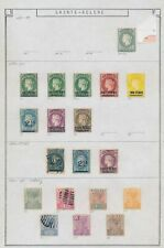 XC38922 St Helena 1873 -1890 queen Victoria classic lot ?/MH