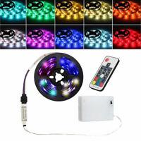 0.5M-2M Battery Powered LED Strip Light RGB 5050 SMD Tape Flexible DIY TV Back