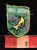 Vtg NEW JERSEY State Tourist Patch Emblem Collector Vacation Souvenir 66WI