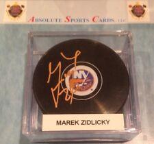 Marek Zidlicky New York Islanders Official Team Autographed Puck W/Case | Auto