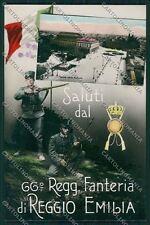 Reggio Emilia città Militari Saluti da Foto cartolina QK0265