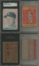 1958 Topps Baseball 368/495 cards set/lot Mickey Mantle #150 & #487 AS NICE L@@K