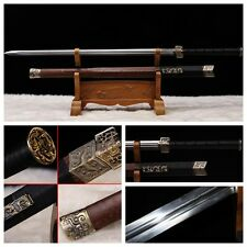 "HAND FORGE CHINESE SWORD ""HAN JIAN ""(劍) PATTERN STEEL RAZOR SHARP BATTLE READY"