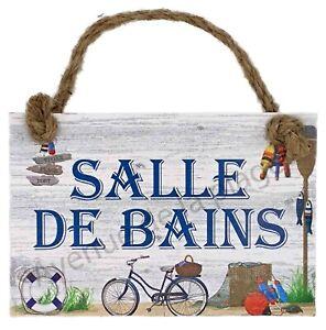 Plaque de porte Salle de Bains maison de pêcheur, décoration marine neuf