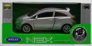 WELLY OPEL VAUXHALL CORSA D OPC SILVER 1:34 DIE CAST METAL MODEL NEW IN BOX