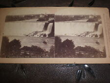 Stereoview photograph American Falls from Canada side Niagara Underwood c1890s