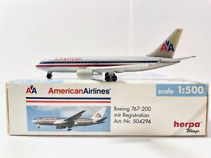1:500 Herpa Wings American Airlines Boeing B767