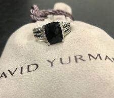 DAVID YURMAN RING PETITE WHEATON BLACK ONYX AND DIAMOND SIZE - 6