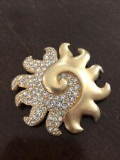 Vintage Authentic Swan Swarovski Crystal Paved sun