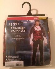 New Prince of Darkness Vampire Halloween Costume Tunic Cape Dickey Size L 36-38