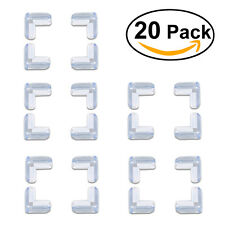 TINKSKY 20pcs Safety Silicone L Shaped Table Corner Anti-collision Protectors
