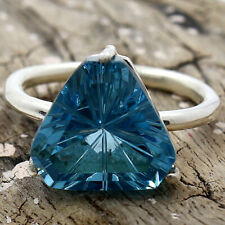 London Blue Topaz 925 Sterling Silver Handmade Ring Jewelry s.7 SDR82190
