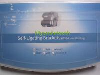 2Sets Dental Orthodontic Self-Ligating Brackets Metal Mini MBT 022 Hook 345