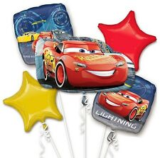 New Disney Cars 3 Lightning McQueen Birthday Balloon Bouquet Party Supplies 5pc