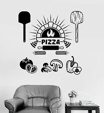 Vinyl Wall Decal Pizza Italian Restaurant Cooking Stickers Mural (ig4075)