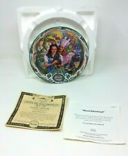 The Wizard Of Oz 'Munchkinland' Musical Plate With Certificate Of Authenticity