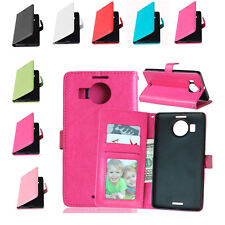 BooK PU Leather Wallet Slot Flip Stand Case Cover For Microsoft Nokia Lumia New