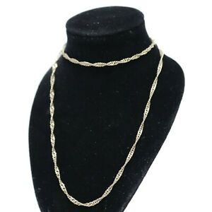 """.375 9ct YELLOW GOLD Fully Hallmarked Ladies Necklace 18"""" 3.4g - 232"""