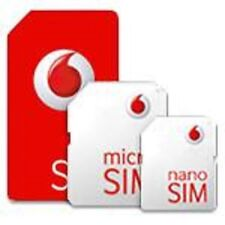 *Vodafone UK Pay As You Go PAYG - Includes Standard Micro & Nano Triple SIM Card