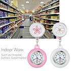 2 Pcs Clip-on Hanging Luminous Lapel Nurse Fob Watch for Doctors, Paramedics