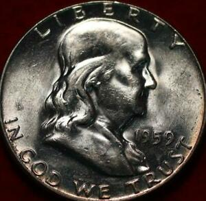 Uncirculated 1959 Philadelphia Mint Silver Franklin Half