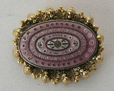 Awesome Vintage Antique Style Gilded Gold Filled Plated Enamel Pin By Freirich