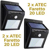 ATEC - Faretto Solare da Esterno IP65 (2PZ Faretto 20 Led)
