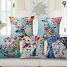"""Waist Decor Linen Case Cotton Pillow Sofa Bed Cushion 18"""" Car Home Peacock Cover"""