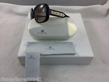 Swarovski CrystaL AVA Brown Havana Sunglasses 1100889 Gold crystals Beautiful