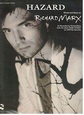 "RICHARD MARX ""HAZARD"" SHEET MUSIC-PIANO/VOCAL/GUITAR-1991-RARE-BRAND NEW ON SALE"