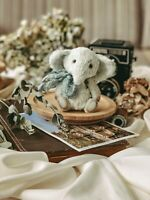 Teddy Handmade Interior Toy Collectable Gift Animal Doll OOAK Elephant Baby